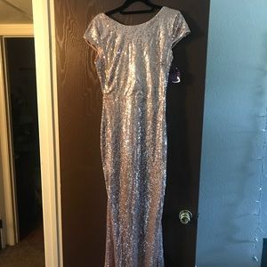 Windsor gold sequin party dress